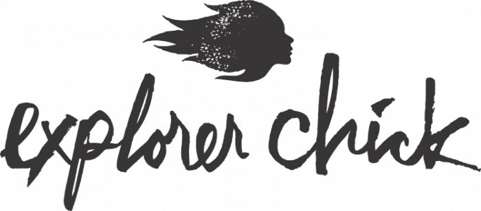 Explorer Chick Logo Adventure Travel for Women