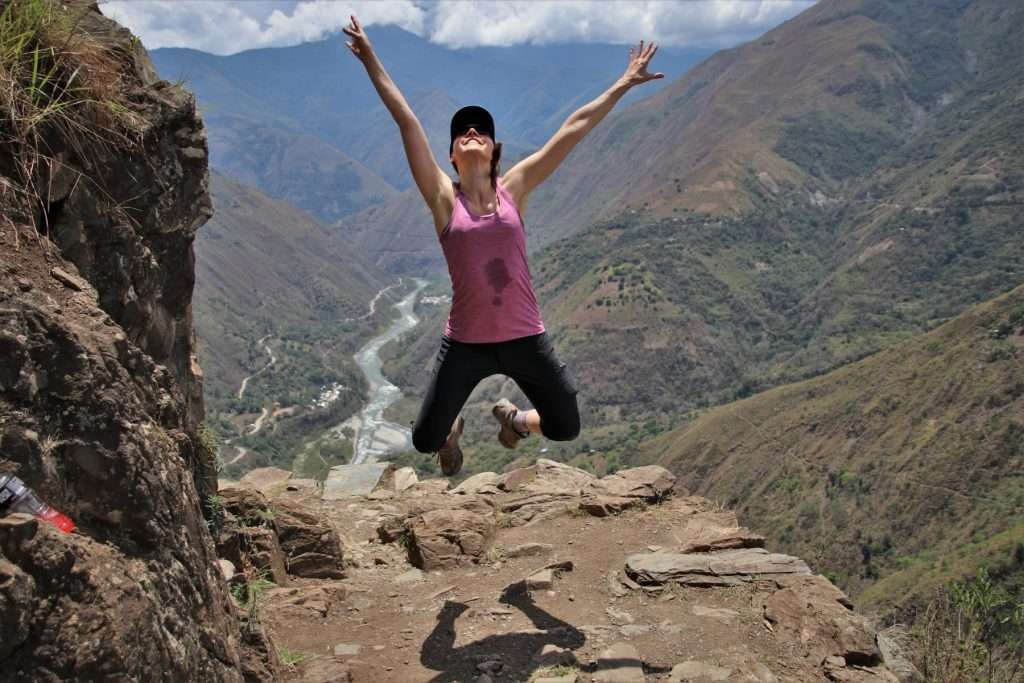 jumping on the inca trail