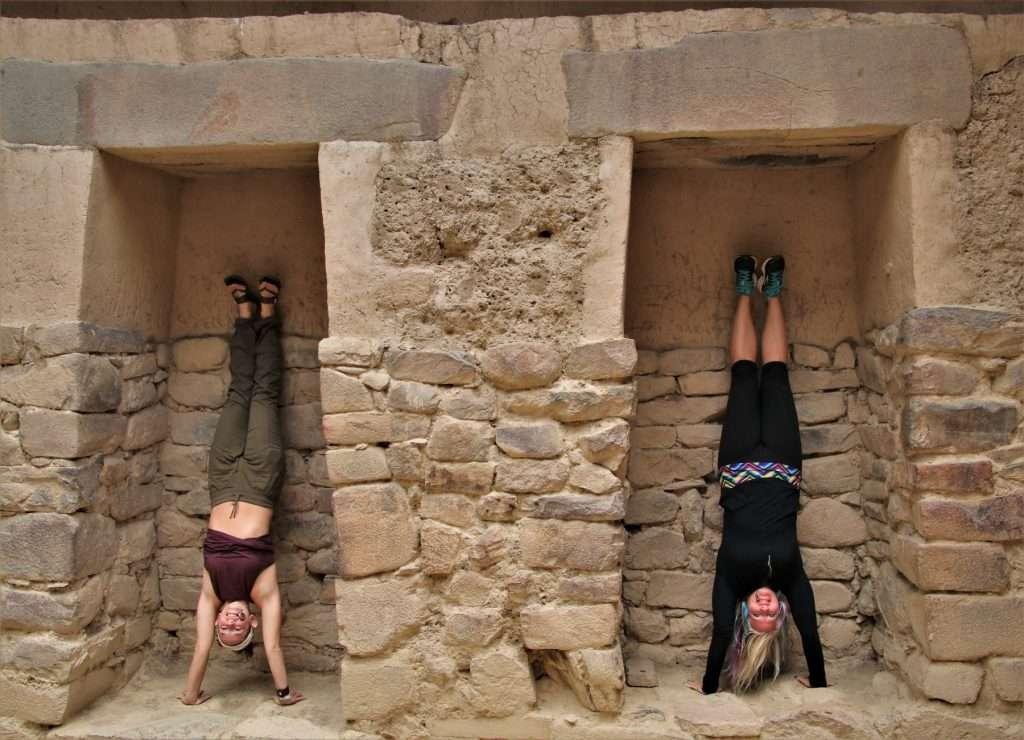 handstands in Inca Ruins