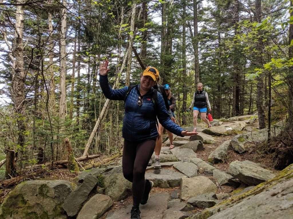 woman hiking along the appalachian trail