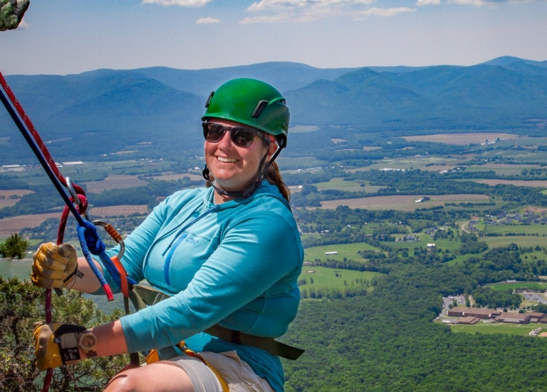 Virginia Rappelling and Climb