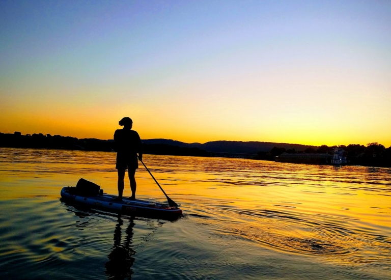 Chattanooga Full Moon Sunset SUP