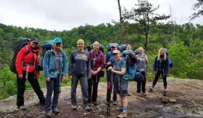 backpacking women group red river gorge