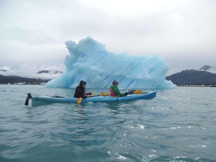 Explorer chicks kayaking in alaska