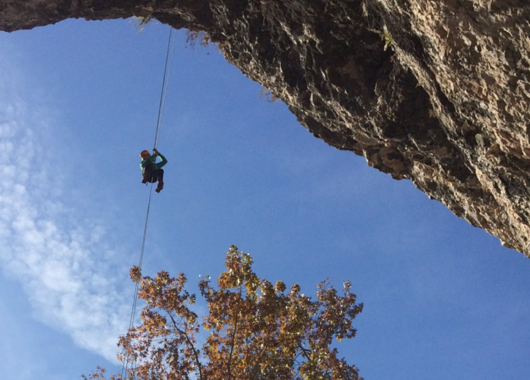 St. Louis Canoeing with Cave Rappelling Adventure