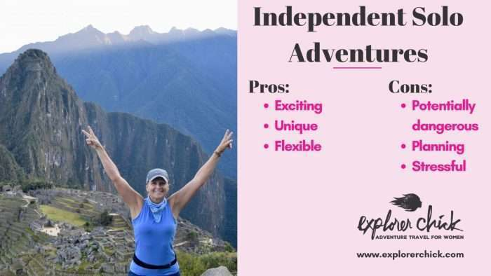 over 50 independent adventure